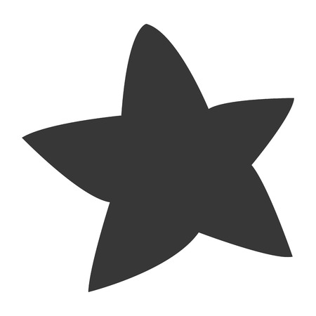 star mascot: simple flat design cute chubby star icon vector illustration