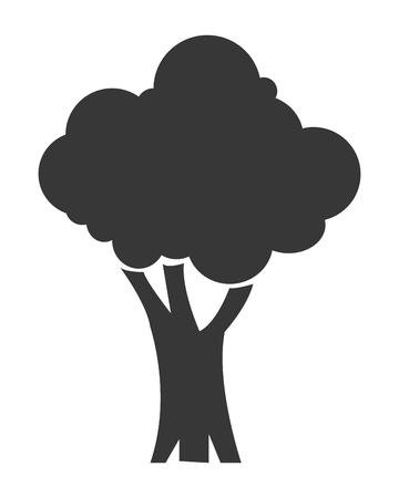 allegory painting: simple flat design single tree icon vector illustration Illustration