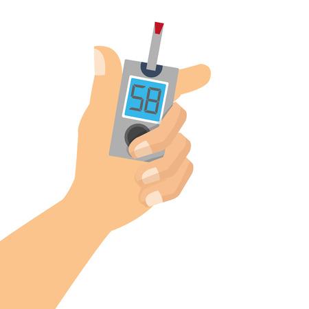 prosta płaska Glukometr z taśmy ikona wektor ilustracji