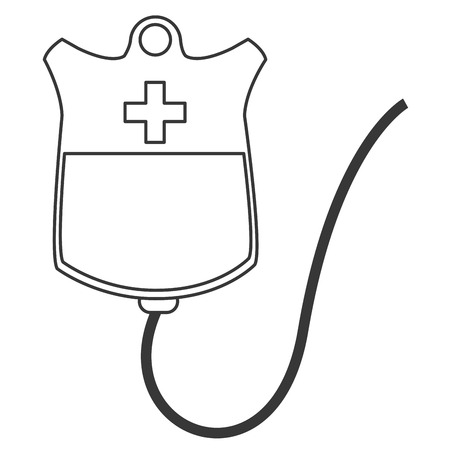 rh: simple flat design blood bag icon vector illustration