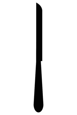 swill: simple flat design dining knife icon vector illustration Illustration
