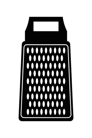 grater: simple flat design kitchen grater icon vector illustration