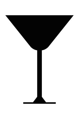 net bar: simple flat design martini glass icon vector illustration Illustration