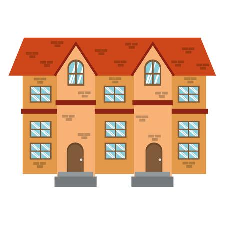 brick building: simple flat design brick building icon vector illustration Illustration