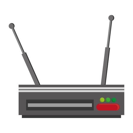 modem: simple flat design wifi router modem icon vector illustration Illustration