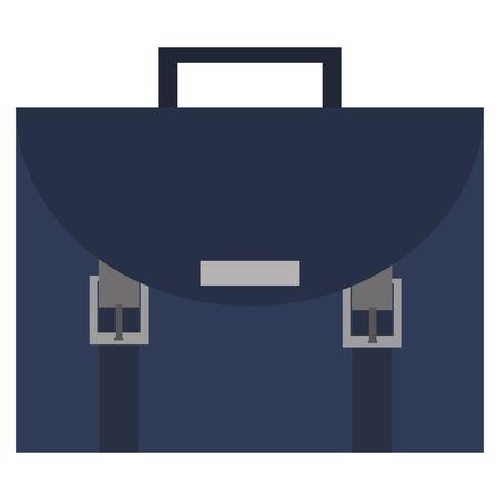 attache: simple flat design blue briefcase icon vector illustration