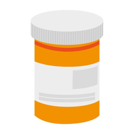 einfache flache Design Pille Flasche Symbol Vektor-Illustration