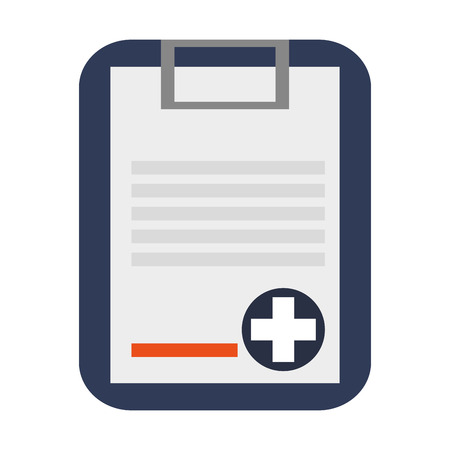 medical clipboard: simple flat design medical history on clipboard icon vector illustration