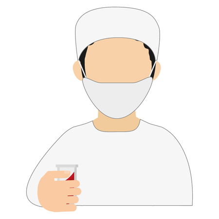 physiotherapist: simple flat design medic or doctor icon vector illustration