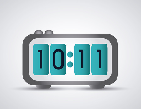 colorfull: Time concept represented by colorfull digital Clock icon. Isolated and flat illustration Illustration