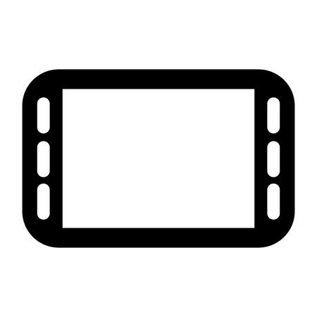 cellphone icon: simple flat design horizontal modern cellphone icon vector illustration