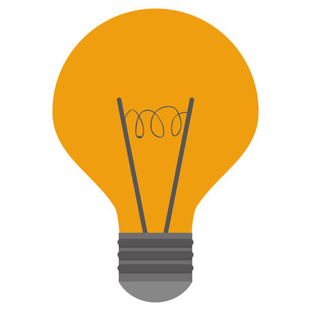 electric material: simple flat design colored lightbulb icon vector illustration