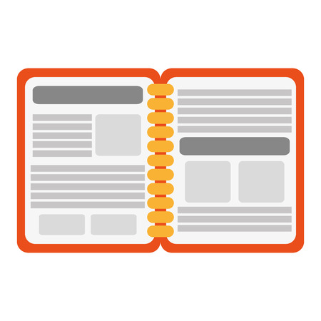 open notebook: simple flat design open notebook icon vector illustration