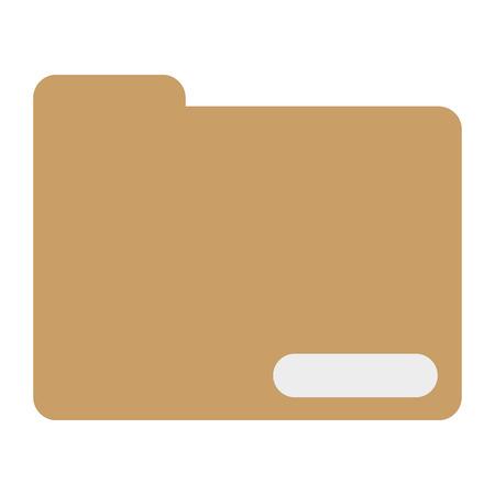 folder icon: simple flat design icon folder with documents icon vector illustration