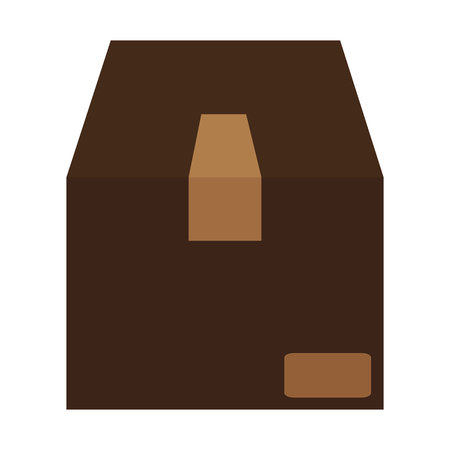 brown box: simple flat design brown box icon vector illustration Illustration