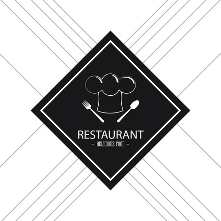 food plate: Food and Menu concept represented by plate icon. Isolated and flat illustration. Black and White image Illustration
