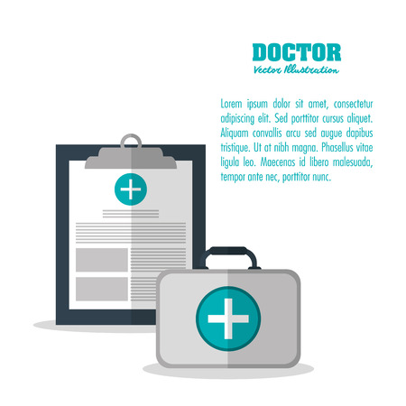 medical history: Medical and Health care concept represented by medical history icon. Colorful and flat illustration.