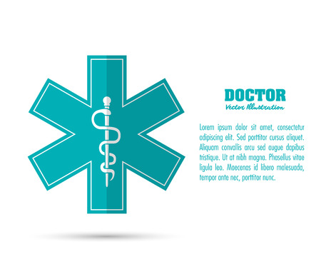 health care concept: Medical and Health care concept represented by caduceus icon. Colorful and flat illustration. Illustration