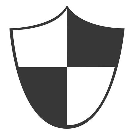 honour guard: simple flat design single shield icon vector illustration