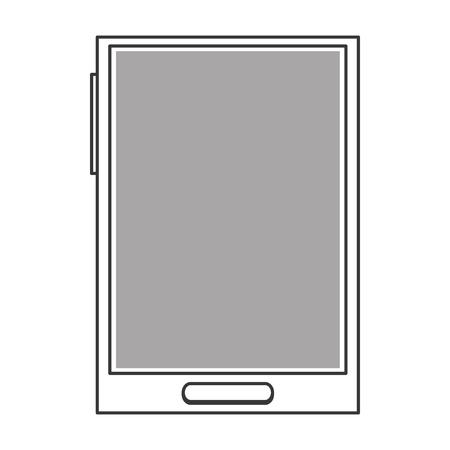 cellphone icon: simple line design modern cellphone icon vector illustration Illustration