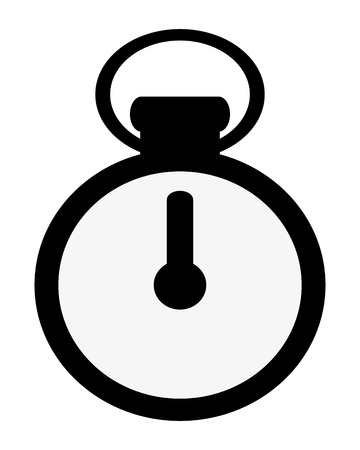 sporting event: simple flat design analog chronometer icon vector illustration