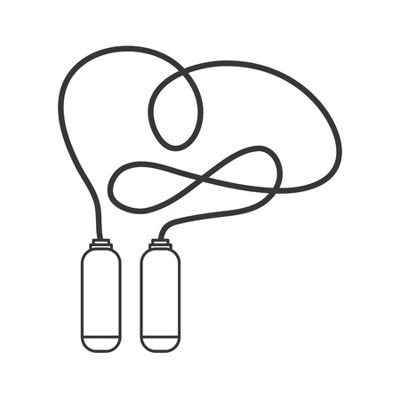 jump rope: simple flat design jump rope icon vector illustration