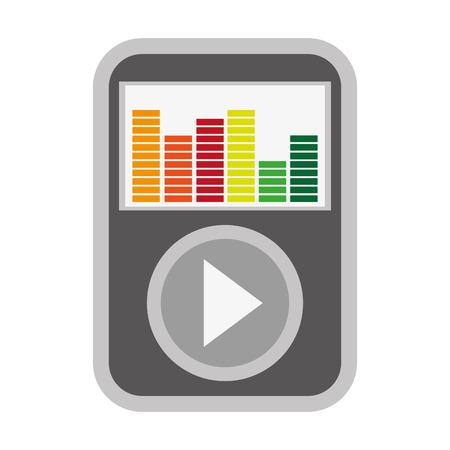 portable audio: simple flat design music player icon vector illustration