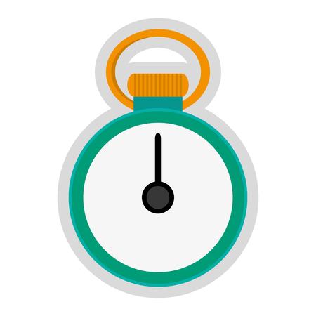chronometer: simple flat design analog chronometer icon vector illustration