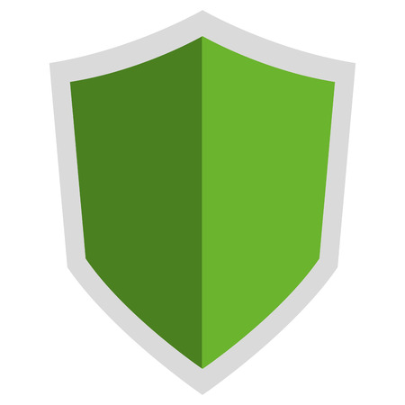 pointy: simple flat design pointy shield icon vector illustration