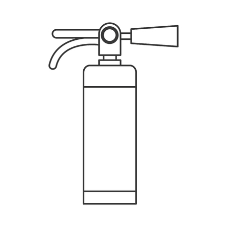 inflammable: simple flat design fire extinguisher icon vector illustration