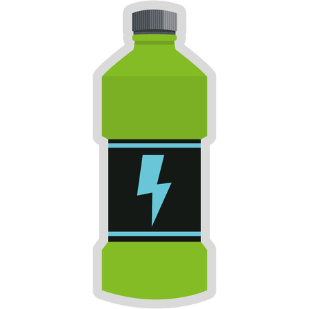 energy drink: simple flat design energy drink bottle icon vector illustration