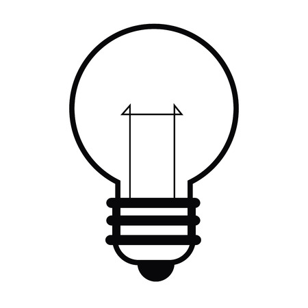 economical: simple flat design colored lightbulb icon vector illustration