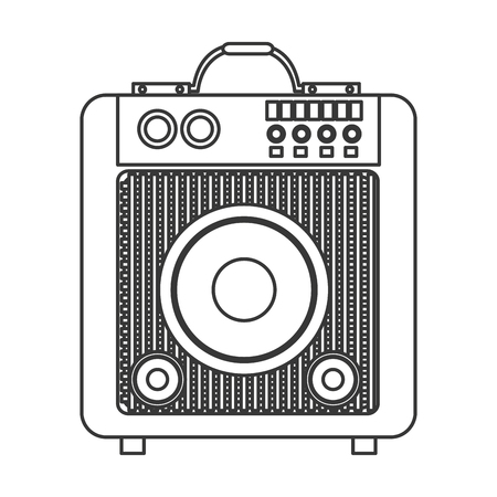 party system: flat design concert speakers icon vector illustration Illustration