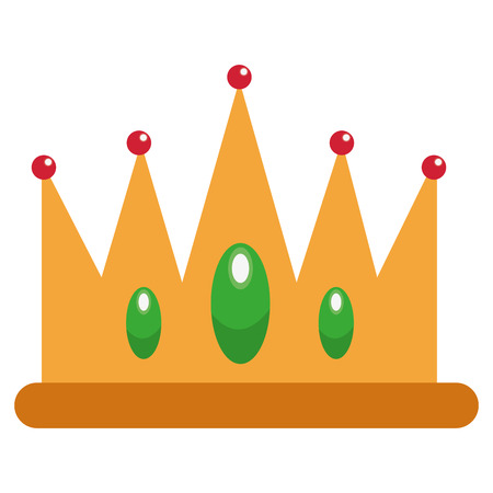jeweled: flat design jeweled crown icon vector illustration Illustration