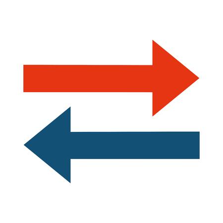 cerulean: simple flat design left right arrows icon vector illustration Illustration