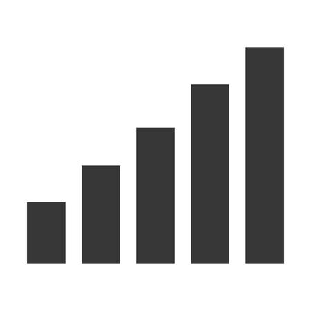 phonographic: simple flat design bar graph icon vector illustration