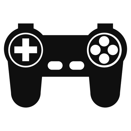 peripheral: simple flat design game controler pictogram icon vector illustration