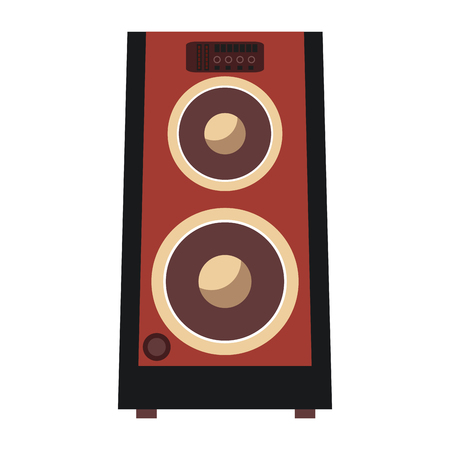 clipart speaker: flat design concert speakers icon vector illustration Illustration
