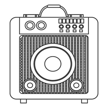 woofer: flat design concert speakers icon vector illustration Illustration