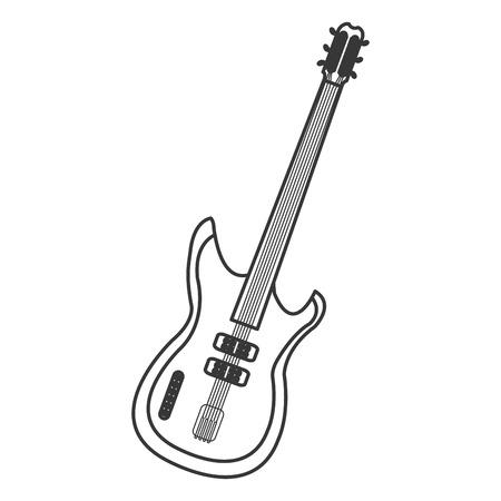 amplify: flat design electric guitar icon vector illustration Illustration