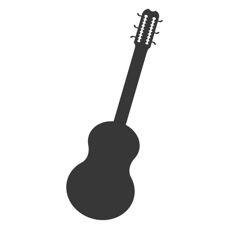 frets: flat design acoustic guitar icon vector illustration