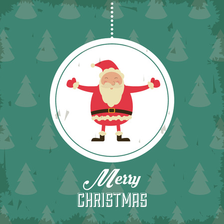christmas concept: Merry Christmas concept represented by santa icon. Colorfull and Grunge illustration Illustration
