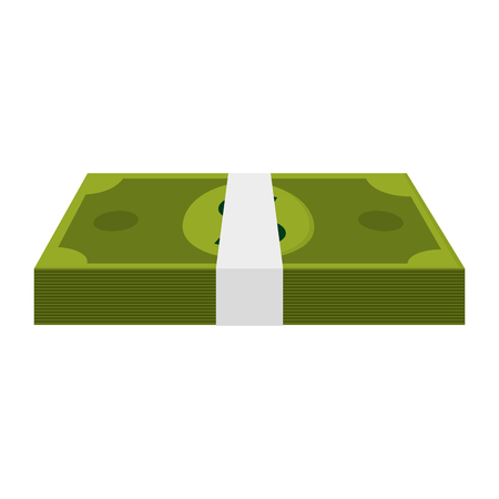 wad: money bill rich, wad of cash , isolated vector illustration