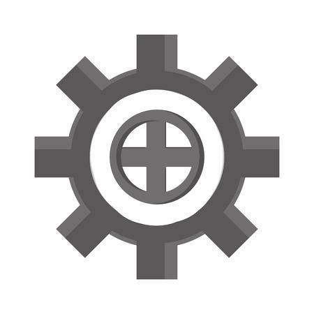 cog wheel: cog wheel industry icon , isolated vector illustration Illustration