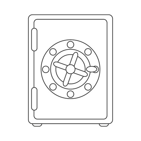 strongbox: strongbox box security safe money , isolated vector illustration Illustration