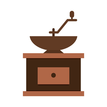 grind: Grind machine coffee icon , isolated vector illustration Illustration