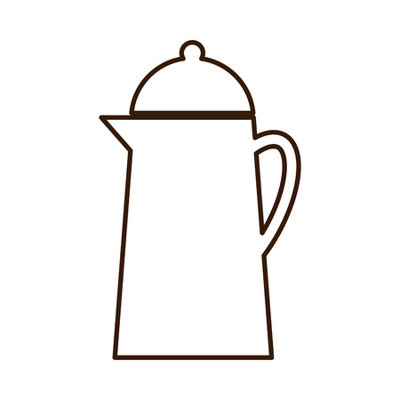 boiling water: Pot for boiling water metallic icon , isolated vector illustration Illustration