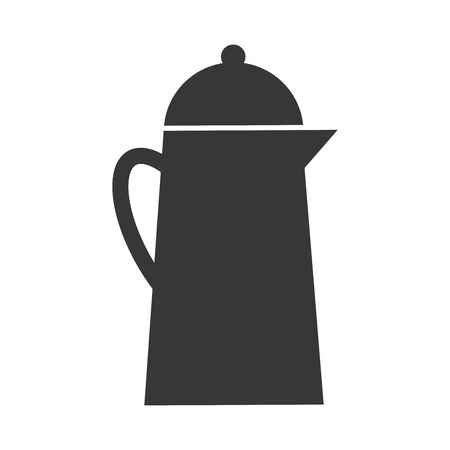 boiling pot: Pot for boiling water metallic icon , isolated vector illustration Illustration