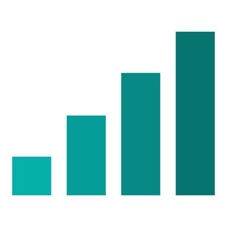 ganancias: bares aislado crecimiento de las ganancias icono empresarial ilustración vectorial
