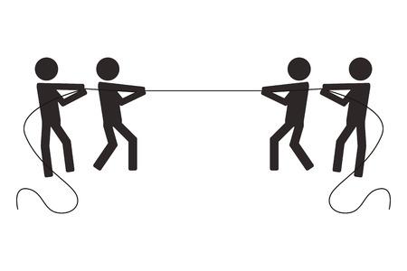 Juntos En La Cuerda De Tracción Ilustraciones Vectoriales, Clip Art ...